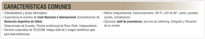 eventos - el salon